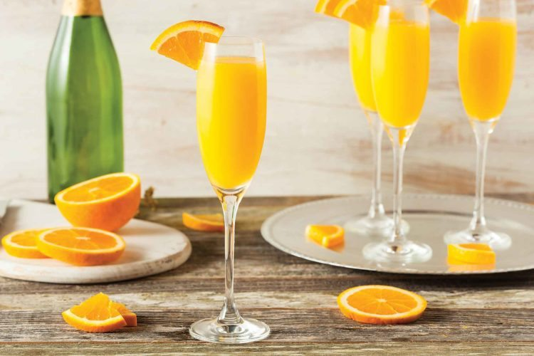 SubmittedPhoto  Homemade refreshing Orange Mimosa Cocktails with Champaigne.
